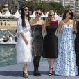 """Lupita Nyong'o, Penélope Cruz (robe Ralph Lauren Collection), Jessica Chastain, Marion Cotillard, Fan Bingbing au photocall de """"355"""" lors du 71ème Festival International du Film de Cannes, le 10 mai 2018. © Jacovides-Borde-Moreau/Bestimage"""