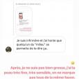 Agathe Auproux répond à une internaute qui se questionne sur sa cicatrice, dimanche 30 juin 2019 sur Instagram.