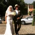 Michel Sarran et sa fille Emma à Saint-Martin-d'Armagnac, le 1er juillet 2019