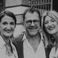 Michel Sarran avec ses filles Emma et Camille, le 12 avril 2019
