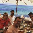 Michel Sarran avec ses filles et ses gendres, le 5 août 2018