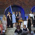 La princesse Sofia de Suède lors de la cérémonie de remise des diplômes de l'école d'infirmiers Sophiahemmet à la mairie de Stockholm le 14 juin 2019.
