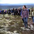 La princesse Sofia de Suède accompagnait la princesse héritière Victoria de Suède le 12 juin 2019 lors d'une excursion dans le parc national de Fulufjället, dans le cadre de son programme de promotion des atouts naturels de la Suède.