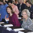 La princesse Hisako Norihito de Takamado, la reine Silvia de Suède, la reine Sofia d'Espagne et la princesse Sofia de Suède étaient réunies le 15 mai 2019 au palais royal à Stockholm pour Dementia Forum X, premier forum consacré à la démence.