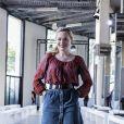 """Julie Judd assiste au défilé de mode Haute-Couture automne-hiver 2019/2020 """"Georges Chakra"""" au Palais de Tokyo à Paris. Le 1er juillet 2019"""