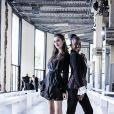 """Claire Chust et Assa Sylla assistent au défilé de mode Haute-Couture automne-hiver 2019/2020 """"Georges Chakra"""" au Palais de Tokyo à Paris. Le 1er juillet 2019"""