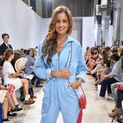 Malika Ménard : Canon en combinaison colorée à la Fashion Week