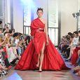 """Défilé de mode Haute-Couture automne-hiver 2019/2020 """"Elie Saab"""" à Paris. Le 3 juillet 2019."""