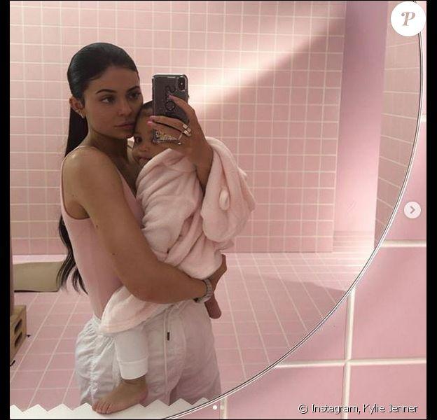 Kylie Jenner et sa fille Stormi. Mai 2019.