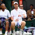 Serena Williams et Andy Murray lors de leur match contre  Raquel Kops-Jones et Fabrice Martin à Wimbledon le 9 juillet 2019.