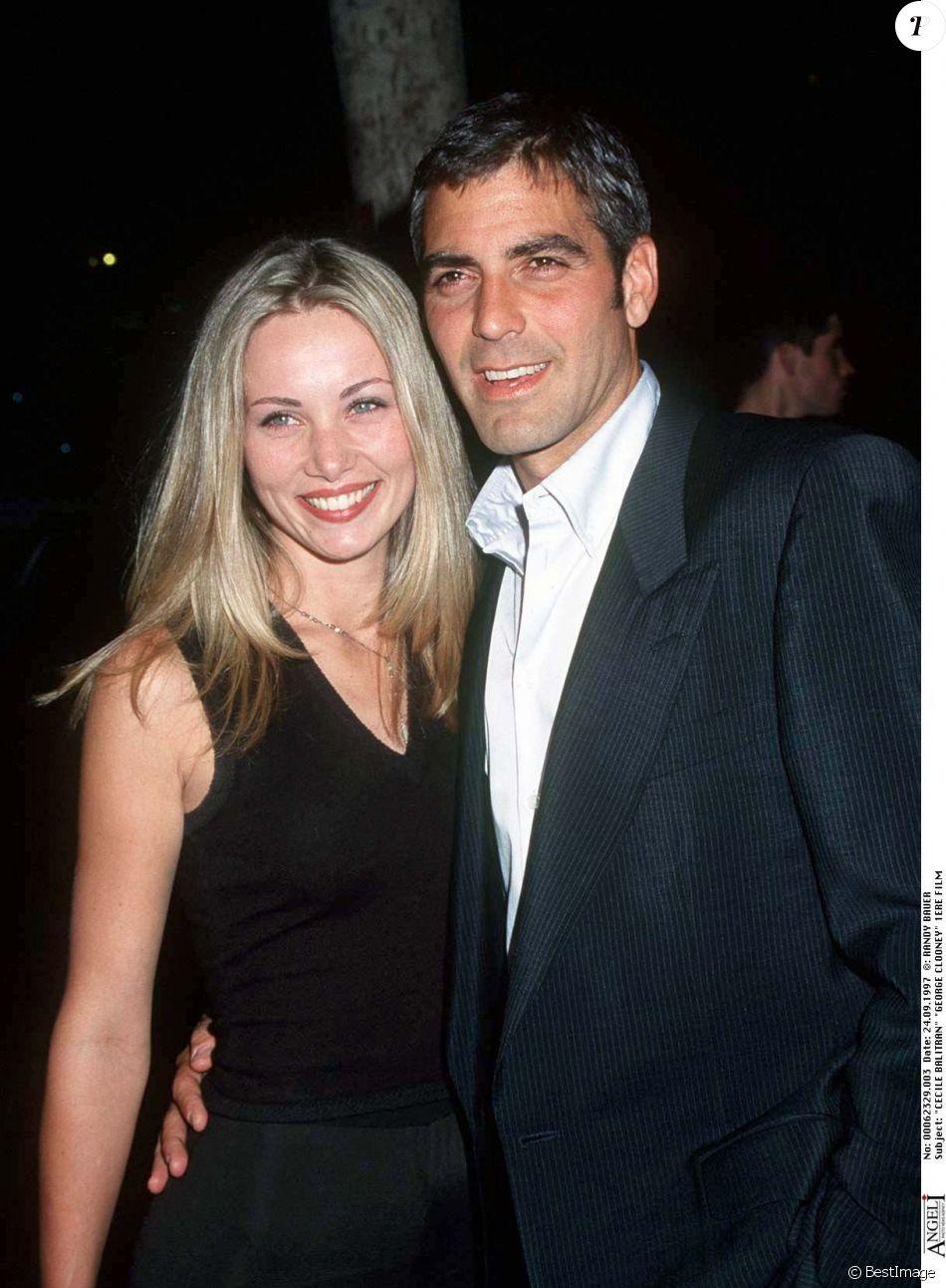 George Clooney et Celine Balitran à Los Angeles le 24 septembre 1997.