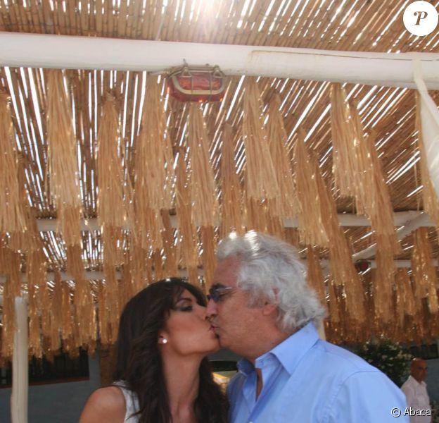 Flavio Briatore et sa femme Elisabetta Gregoraci en Italie (25 juin 2009)