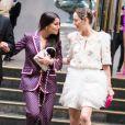 Leïla Bekhti et Marion Cotillard à la sortie du gala Vogue Foundation lors de la mode Haute-Couture automne-hiver 2019/2020 au Trianon à Paris, France, le 02 juillet 2019. © Tiziano da Silva/Bestimage