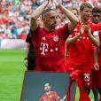 Franck Ribéry - Franck Ribéry célèbre le titre de champion d'allemagne et son dernier match sous les couleurs du Bayern de Munich le 18 Mai 2019. 18/05/2019 - Munich