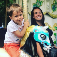 Kelly Helard et son fils Lyam, le 23 juin 2019