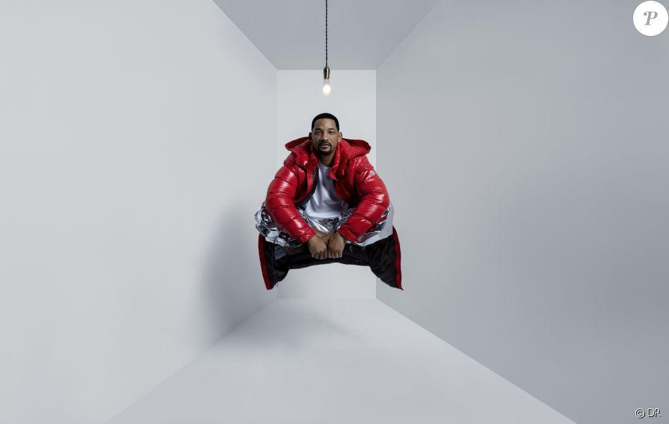 """Will Smith est le visage de la campagne publicitaire """"Genius is Born Crazy"""" de Moncler. Juillet 2019."""
