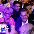 Semi-exclusif - Nicolas Sarkozy - Carla Bruni-Sarkozy en concert au théâtre de Verdure du Grand Jardin à Le Lavandou le 23 juillet 2019. © Dominique Jacovides-Cyril Moreau/Bestimage