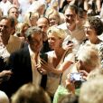 Semi-exclusif - Renaud Muselier, Nicolas Sarkozy - Carla Bruni-Sarkozy en concert au théâtre de Verdure du Grand Jardin à Le Lavandou le 23 juillet 2019. © Dominique Jacovides-Cyril Moreau/Bestimage