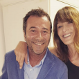 Bernard Montiel et Carla Bruni sur Instagram.