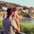 """Justin de """"Mariés au premier regard"""" avec sa fille Romy, le 24 juillet 2019"""