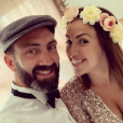 """Tiffany et Justin de """"Mariés au premier regard"""" à un mariage, le 14 juillet 2019"""