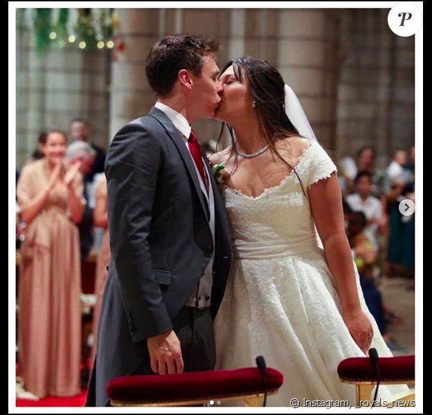 Le mariage religieux de Louis Ducruet et Marie Chevallier à Monaco, le 27 juillet 2019.