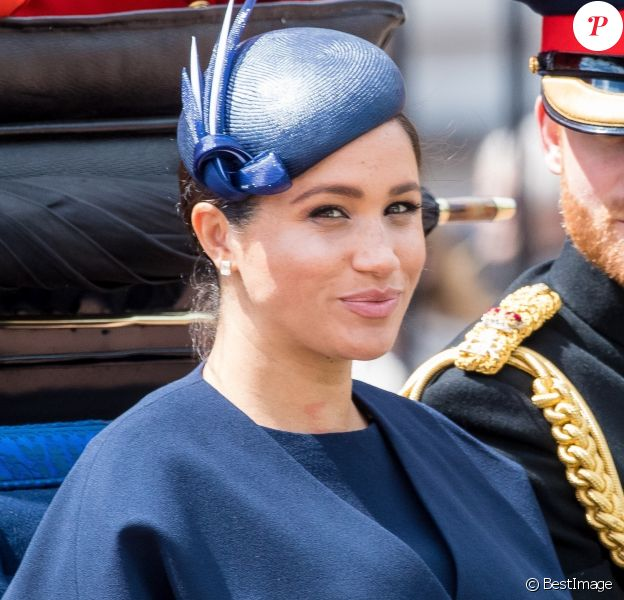 Meghan Markle, duchesse de Sussex, lors de la parade Trooping the Colour à Londres, le 8 juin 2019.