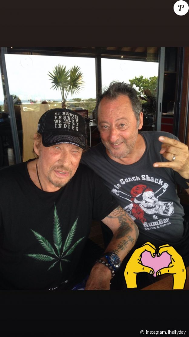 Johnny Hallyday et Jean Reno- Photo publiée par Laeticia Hallyday le 30 juillet 2019.