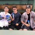 René-Charles Angélil et son meilleur John Hallet ont passé un peu de temps à Boston, le 27 juillet 2019