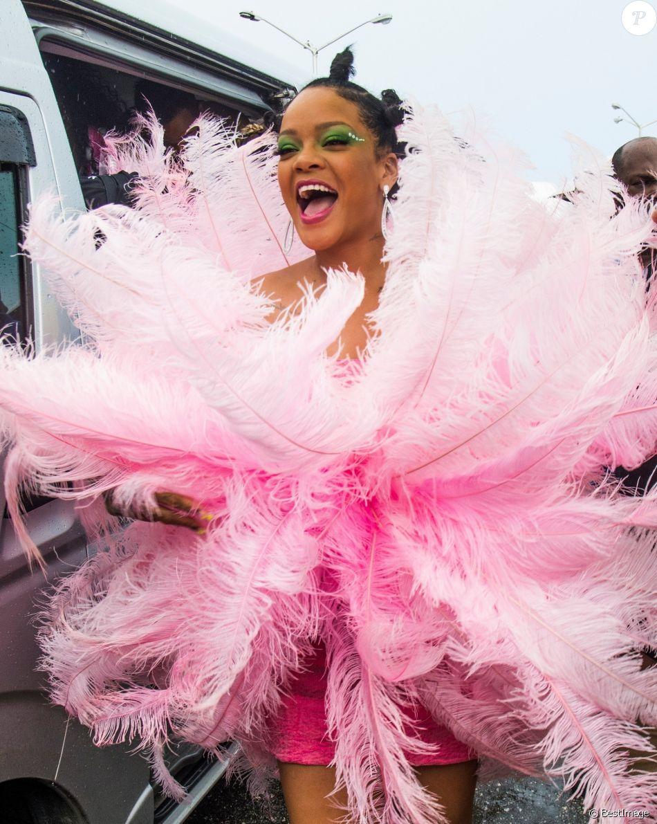 Rihanna lors de la parade de Kadooment Day dans la paroisse de Saint-Michael à La Barbade, le 5 août 2019