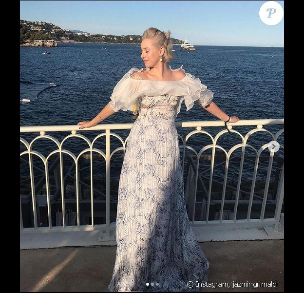 Jazmin Grimaldi, la fille aînée du prince Albert, de passage à Monaco cet été. Août 2019.