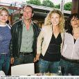 Jean Dujardin, Alexandra Lamy, Aure Atika et Marion Cotillard à Roland Garros, en 2004.