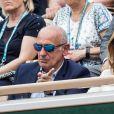 Jean-Michel Aphatie et Anne Gravoin dans les tribunes lors des internationaux de tennis de Roland Garros à Paris, France, le 31 mai 2019. © Jacovides-Moreau/Bestimage