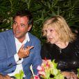 Bernard Montiel et Nicoletta assistent à la soirée des 50 ans de l'hôtel le Mas de Bellevue à Saint-Tropez, Côte d'Azur, France, le 8 août 2019. © Jack Tribeca/Bestimage