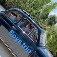 Brooklyn, Romeo et Cruz Beckham en vacances dans les Pouilles, en Italie, le 06 août 2019.