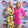 Tori Spelling et Jennie Garth aux Teen Choice Awards 2019 à Hermosa Beach, le 11 août 2019.