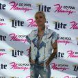 Aaron Carter chante à la fête Flamingo GO Pool à Las Vegas le 15 avril 2017. © CPA/Bestimage 15/04/2017 - Las Vegas