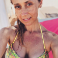 Lara Fabian en vacances en Sicile, avec son mari Gabriel. Le 13 août 2019.