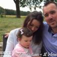 """Benoît de """"L'amour est dans le pré"""" saison 7 en 2012 présente sa chérie Emilie et leur fille Hémérence"""