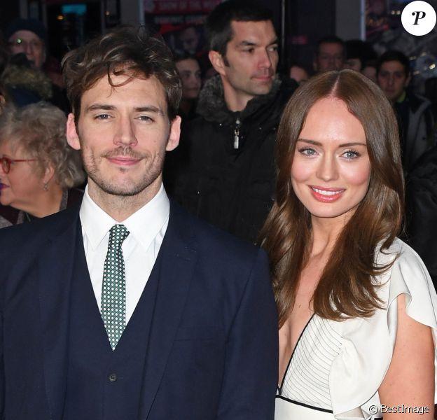 """Sam Claflin et sa femme Laura Haddock lors du tapis rouge du film """"Their Finest"""" pendant le 60e BFI, le Festival du Film de Londres, le 13 octobre 2016."""