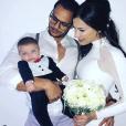 Julie Ricci avec Pierre-Jean Cabrières et son fils Gianni, le jour de leur premier mariage, le 8 décembre 2018