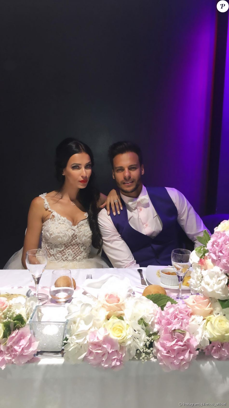 Julie Ricci à son deuxième mariage - samedi 24 août 2019