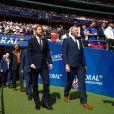 Le prince Harry, duc de Sussex, lors du match de finale de la Rugby League Challenge Cup à Londres le 24 août 2019.