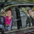 La reine Elizabeth II et la duchesse Catherine de Cambridgese rendant à la messe à Ballater en Ecosse le 25 août 2019.