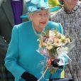 La reine Elizabeth II lors d'une vente caritative au profit de l'église de Crathie, en Écosse, le 18 août 2019.