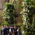 La cathédrale d'York - Les mariés E. Goulding et C. Jopling à la sortie de la cathédrale d'York, le 31 août 2019
