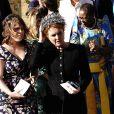 La princesse Eugenie d'York et sa mère Sarah Margaret Ferguson, duchesse d'York - Les invités arrivent au mariage de E. Goulding et C. Jopling en la cathédrale d'York, le 31 août 2019