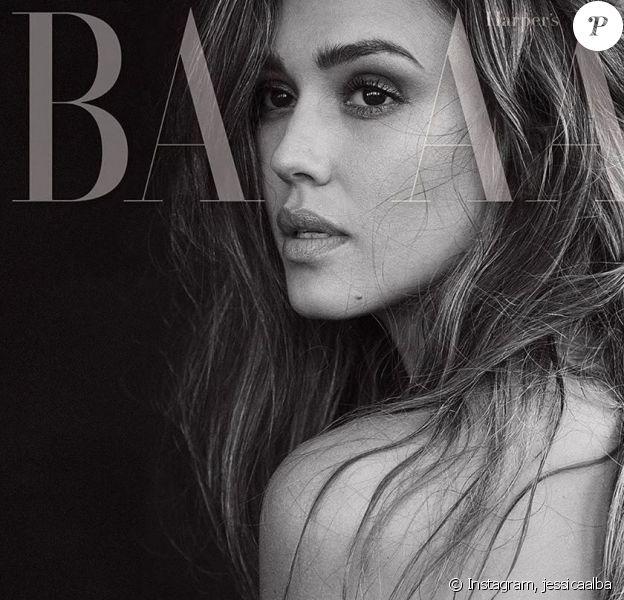 """Jessica Alba topless pour le """"Harper's Bazaar"""" sur Instagram- 5 septembre 2019."""