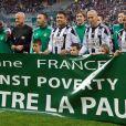 Pierluigi Collina, Ronado (Ronaldo Luis Nazario de Lima), Zinédine Zidane, Cafu, Frank de Boer - 12ème édition du match contre la pauvreté, organisé par le programme des Nations Unies pour le Développement au stade Geoffroy-Guichard à Saint-Étienne, le 20 avril 2015.