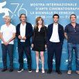 "Alain Goldman, Alexandre Desplat, Louis Garrel, Emmanuelle Seigner, Jean Dujardin - Photocall du film ""J'accuse !"" lors du 76e festival international du film, la Mostra le 30 août 2019."